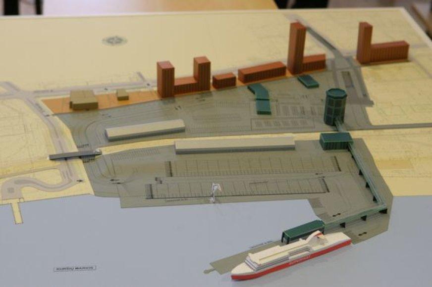Būsimasis keleivių ir krovinių terminalas.