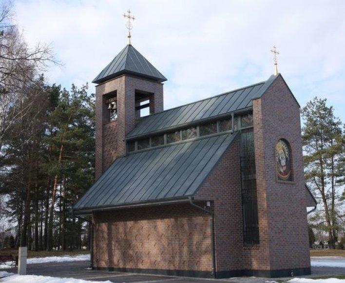Naujoji koplyčia Klaipėdos Lėbartų kapinėse.