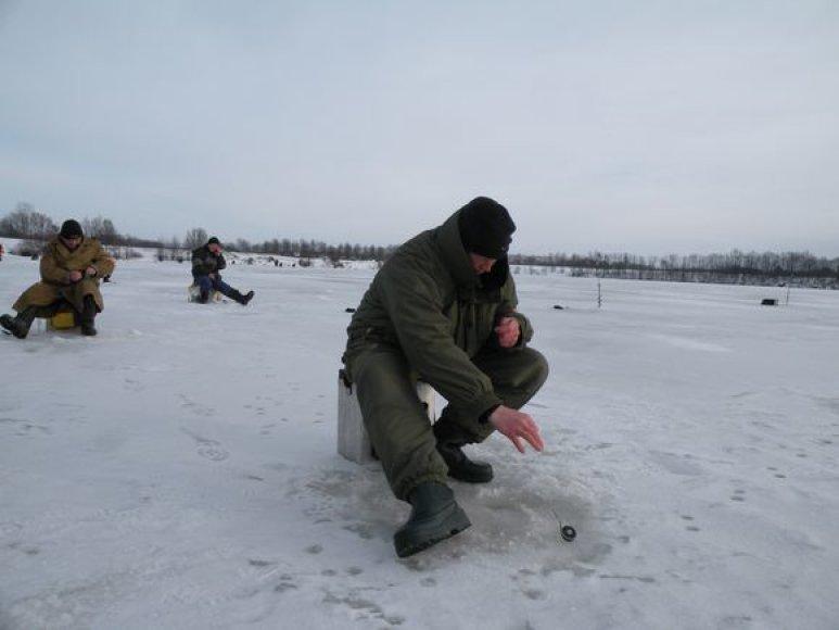 Žiemą poledinėje žvejyboje dažniausiai kimba ešeriai ir kuojos.