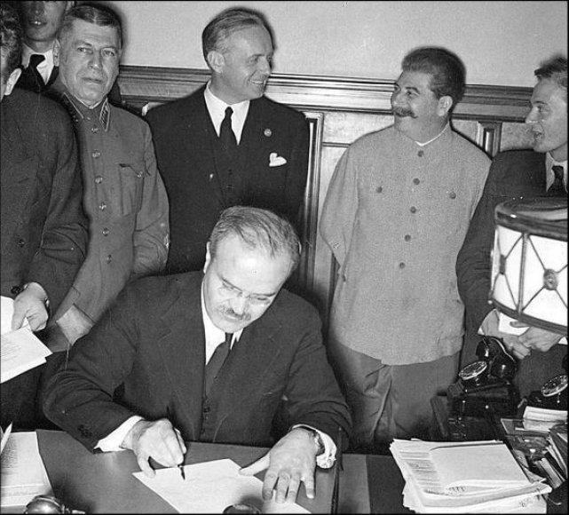 SSRS ir Vokietijos sandėris nulėmė Antrojo pasaulinio karo pradžią.