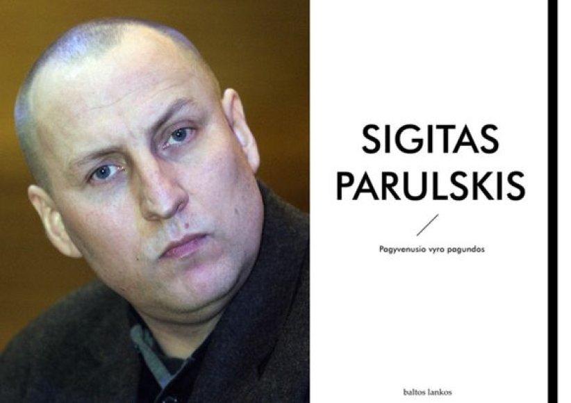 """Viena iš į dvyliktuką įgtrauktų knygų - S.Parulskio eilėraščių rinktinė """"Pagyvenusio vyro pagundos""""."""