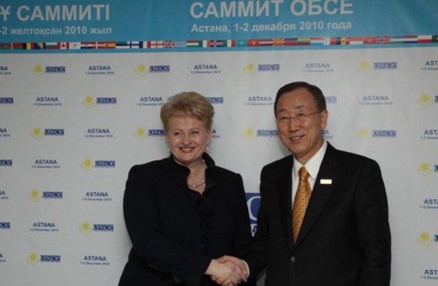 Dalia Grybauskaitė ir Ban Ki Moonu