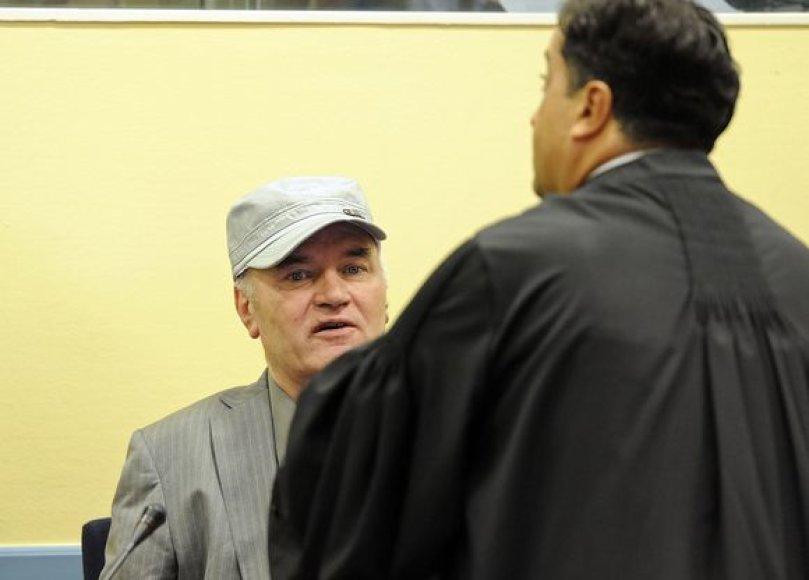 Ratko Mladičius pirmąkart stojo prieš JT tribunolą
