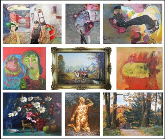 Henritos ir Vaclovo Kontrauskų meno kolekcijos kūriniai.