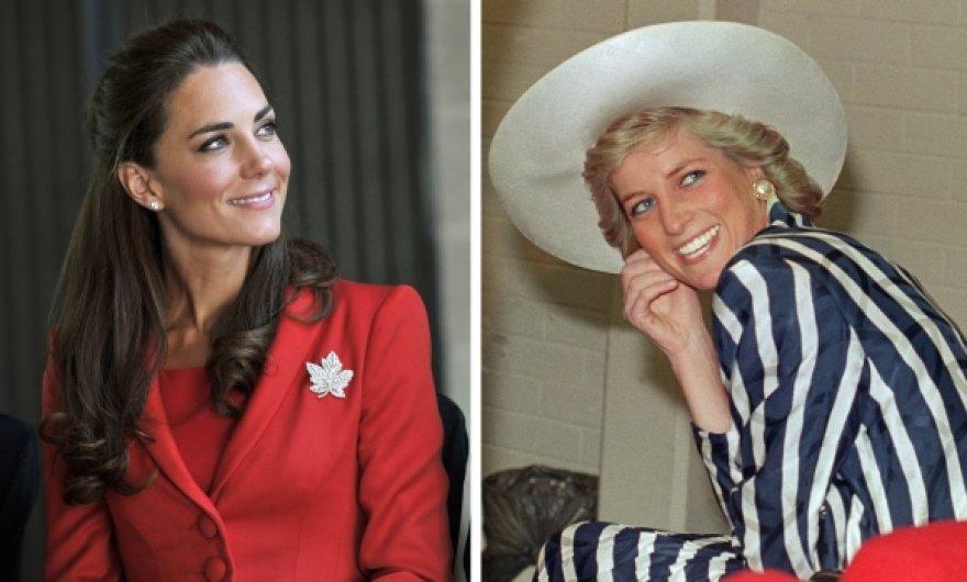 Kembridžo hercogienė Catherine ir princesė Diana