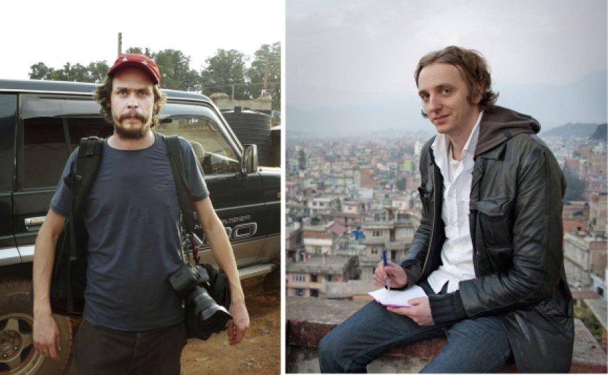 Fotografas Johanas Perssonas ir žurnalistas Martinas Schibbye