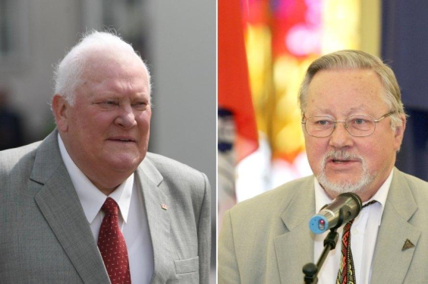 A.M.Brazauskas ir V.Landsbergis