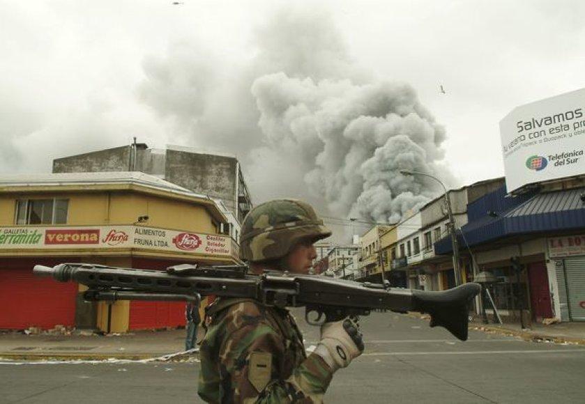 Neramumai po žemės drebėjimo Čilėje