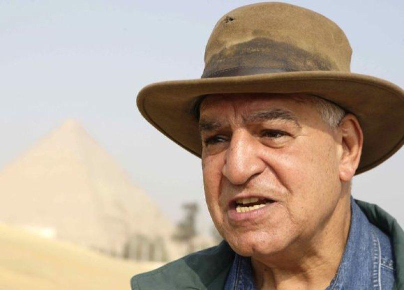 Egipto aukščiausiosios senovės paminklų komisijos vadovas Zahi Hawassas