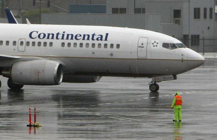 """Continental Airlines"" lėktuvas"