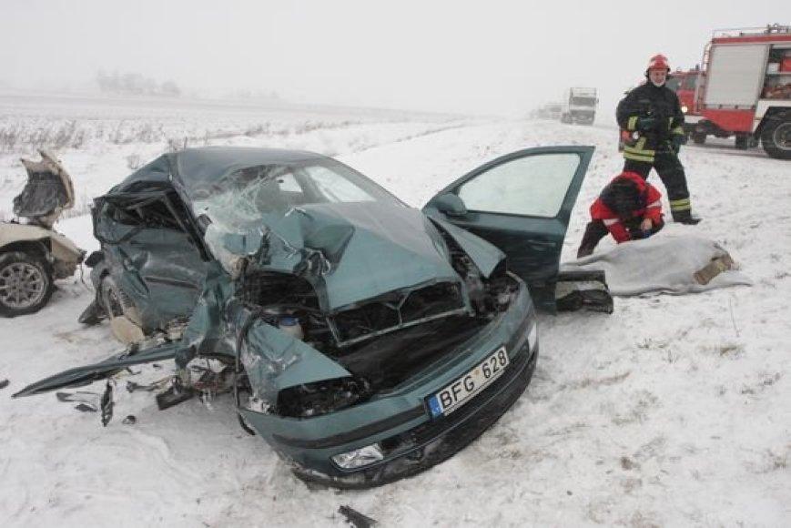 Tragiška avarija Panevėžyje 2009 m. sausį