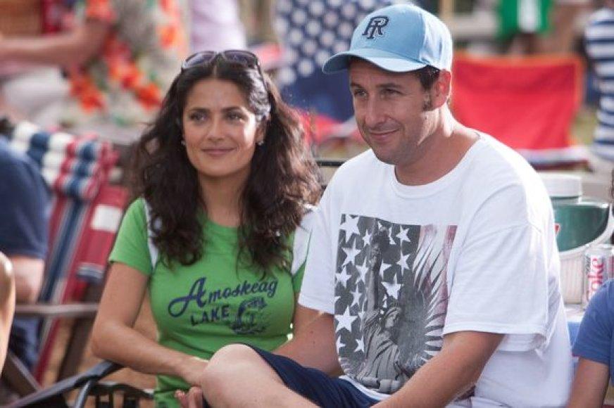 Adamas Sandleris ir Salma Hayek