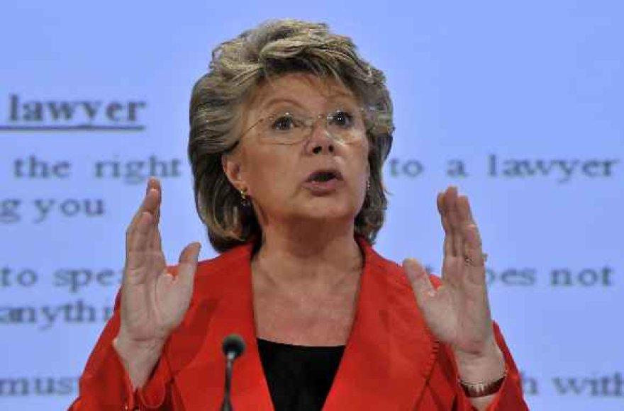ES teisingumo komisarė Viviane Reding