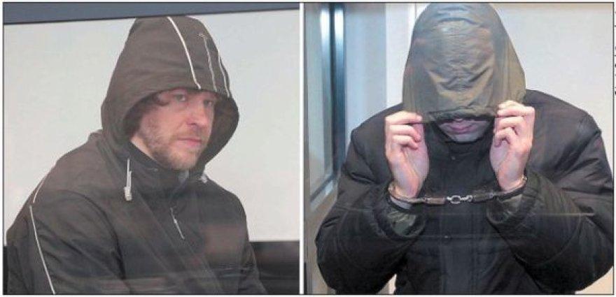 A.Račkelis (kairėje) neigia sugalvojęs pagrobti Ž.Buzą ir kalinęs jį savo namo rūsyje, D.Snapkausko dangstymasis nuo fotoobjektyvų kelia įtarimą...