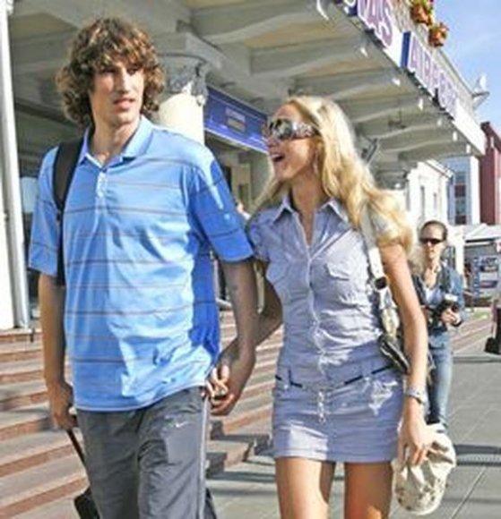 Simas Jasaitis su žmona Vaida