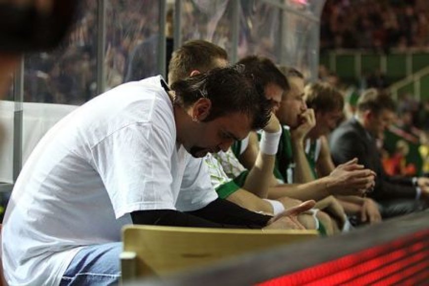 Ratko Varda negalėjo padėti komandai rungtynėse su Italijos čempionais