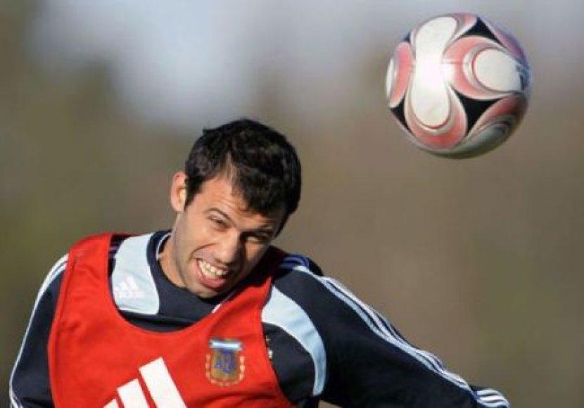 Naujasis Argentinos rinktinės kapitonas Javieras Mascherano