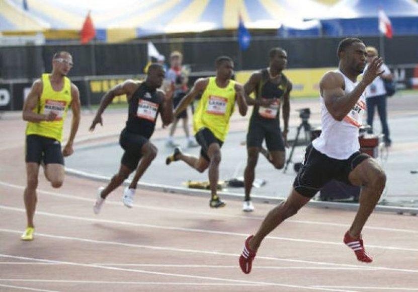 200 metrų bėgime triumfavo Tyson Guy