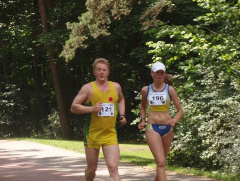 Darius Jurgaitis bėgimo trasoje