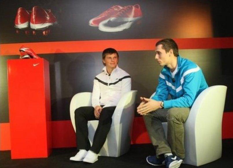 Andrejus Aršavinas ir Andrejus Borzakovskis