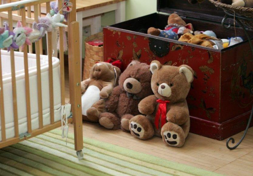 Vaikų globos namų kambarys