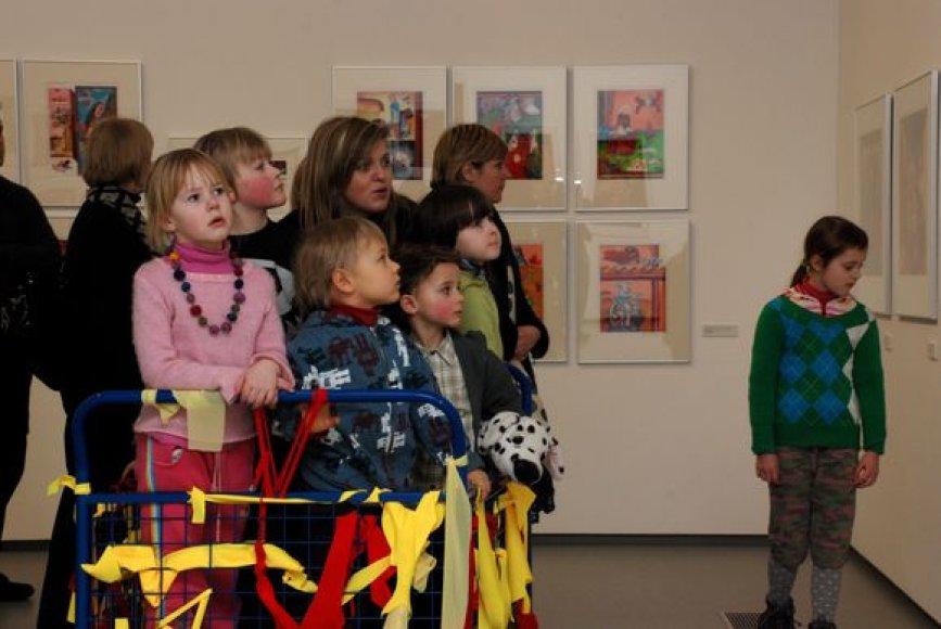Vaikai Nacionalinėje dailės galerijoje