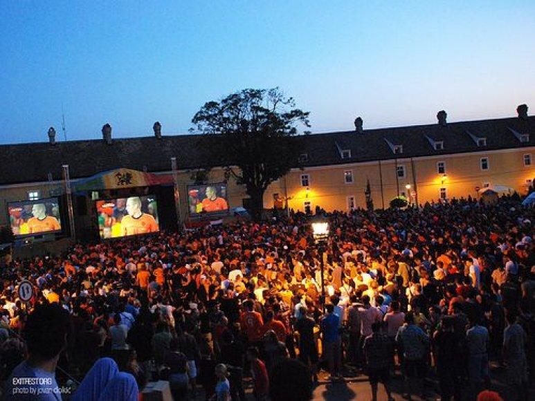 "Pasaulio futbolo čempionato finalo stebėjimas festivalyje ""EXIT"""
