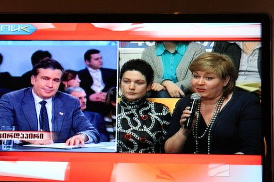 Edita Mildažytė Gruzijos televizijoje