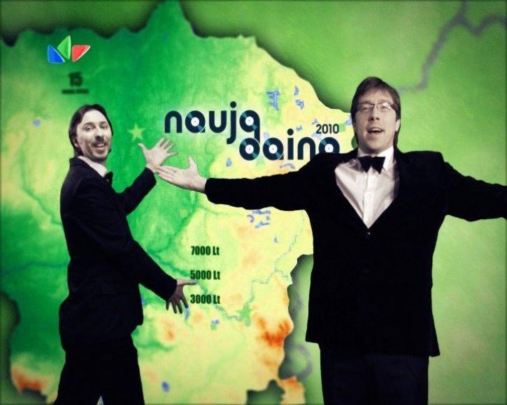 """Konkurso """"Nauja daina 2010"""" finalo vedėjai"""