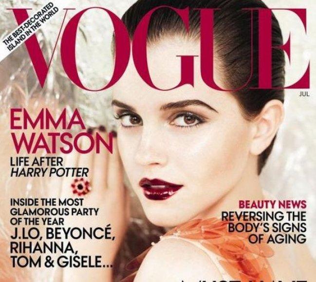 Emma Watson ant žurnalo viršelio