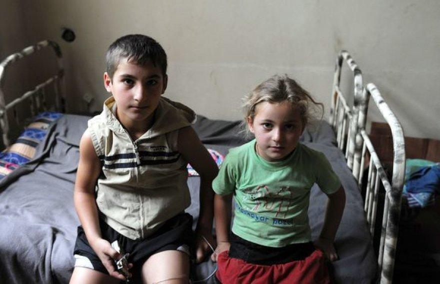 Karo nuskriausti vaikai Gruzijoje