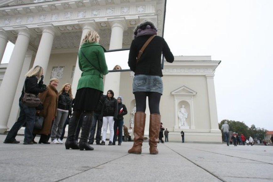 Vilniaus Katedros aikštėje – akcija Pasaulinei psichikos sveikatos dienai paminėti.