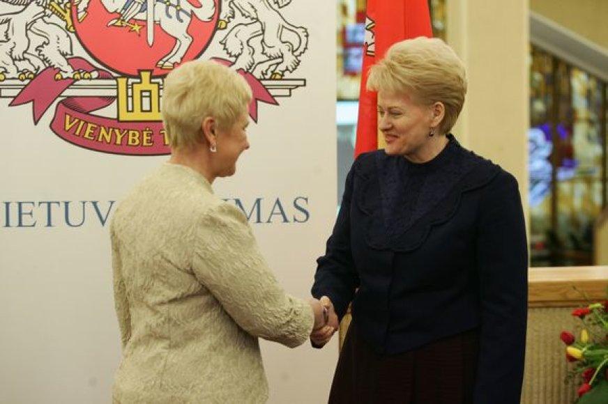Lietuvos prezidentė Dalia Grybauskaitė ir Seimo pirmininkė Irena Degutienė