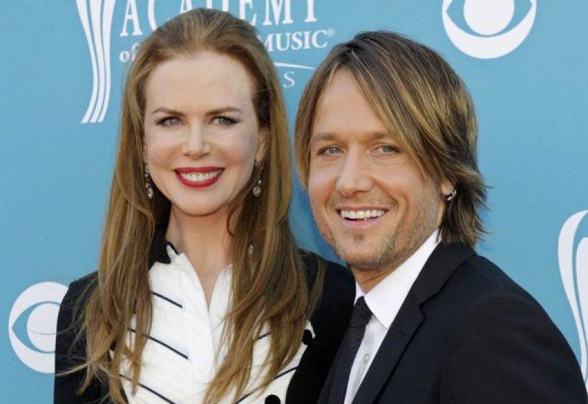 Aktorė Nicole Kidman su vyru dainininku Keith Urban