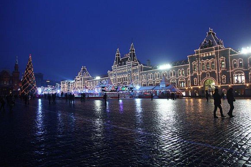 Šventiniai žiburiai Maskvoje