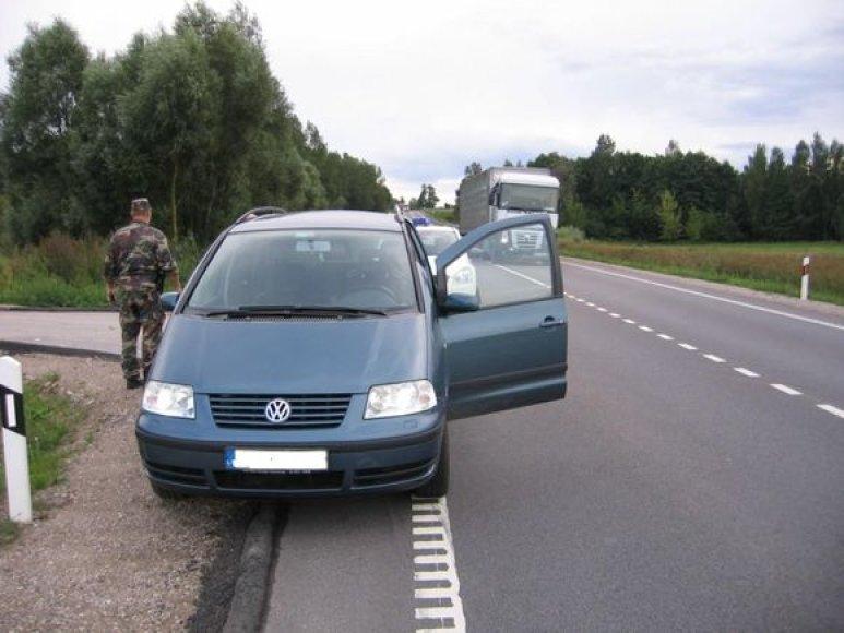 "Vokietijoje vogtas ""VW Sharan"""