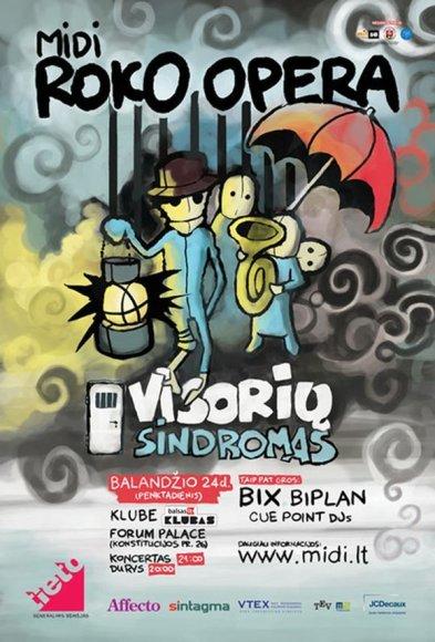 """Roko operos """"Visorių sindromas"""" pristatymas įvyks balandžio 24 dieną Forum palace balsas.lt klube."""