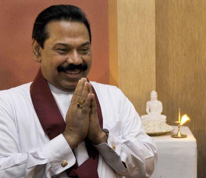 Šri Lankos prezidentas Mahinda Rajapakse