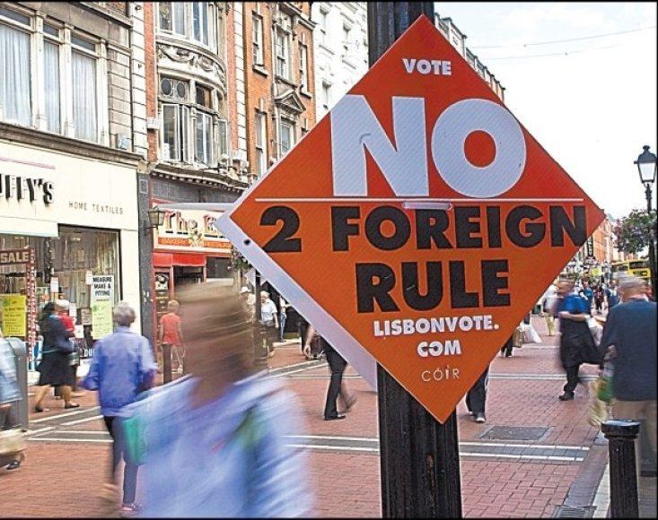 """Kartą Airijos gyventojai jau pasakė """"ne užsieniečių valdymui""""."""