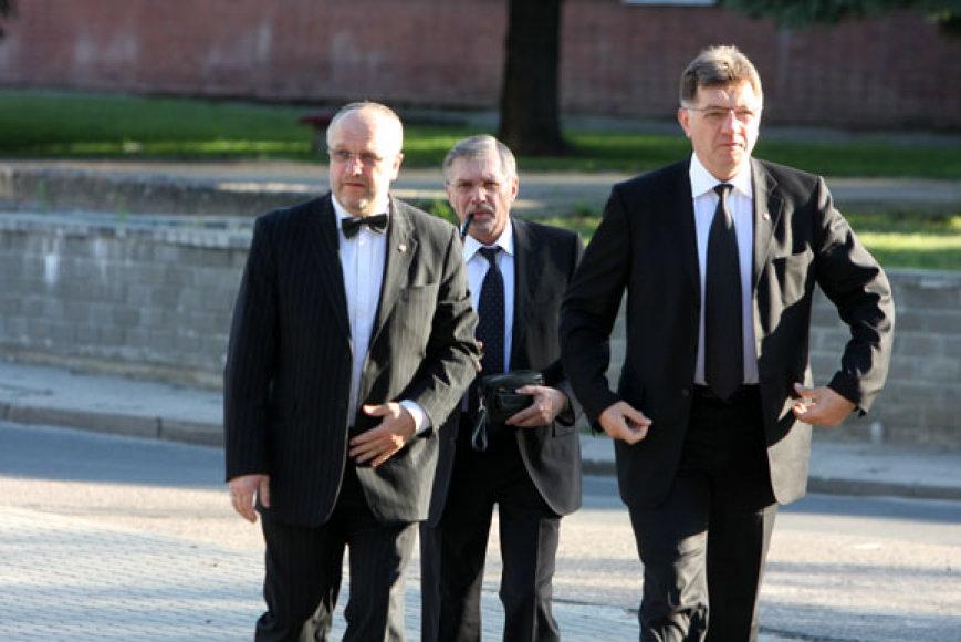 Į šv.Mišias Kaišiadorių katedroje atvyko socialdemokratai Juozas Olekas, Gediminas Kirkilas ir Algirdas Butkevičius.