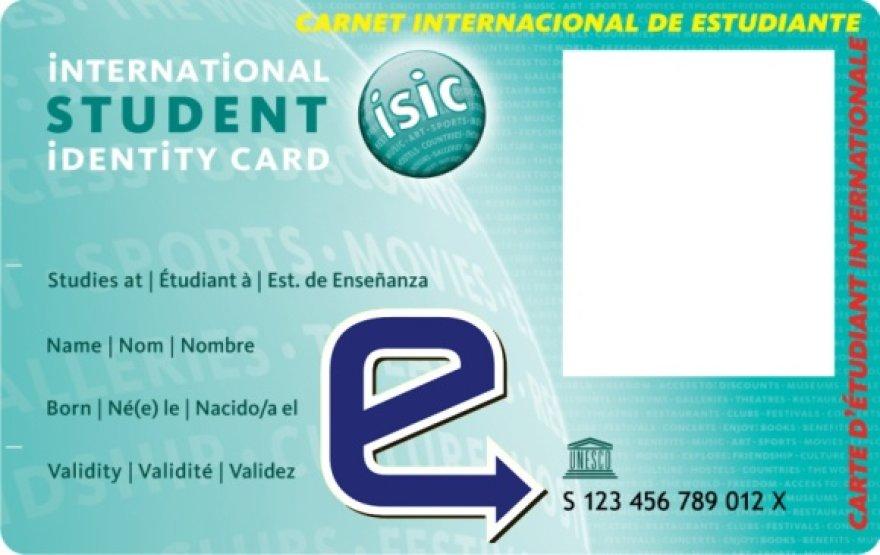 ISIC pažymėjimas su integruotu elektroniniu viešojo transporto bilietu