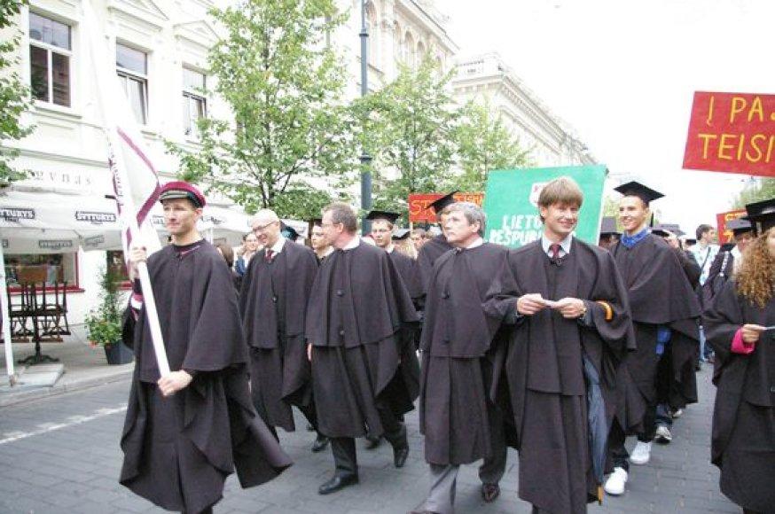 VU Teisės fakulteto studentai