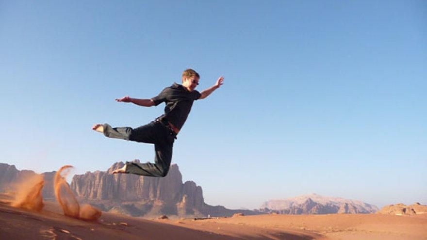 Arminas Kazlauskas pasirinko stažuotę Jordanijoje.