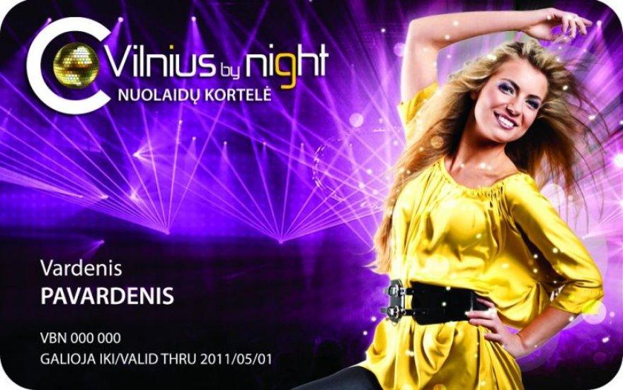 """""""Vilniusbynight"""" nuolaidų kortelė"""
