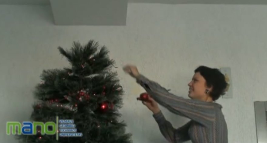 VGTU sudentai rengiasi Kalėdoms.