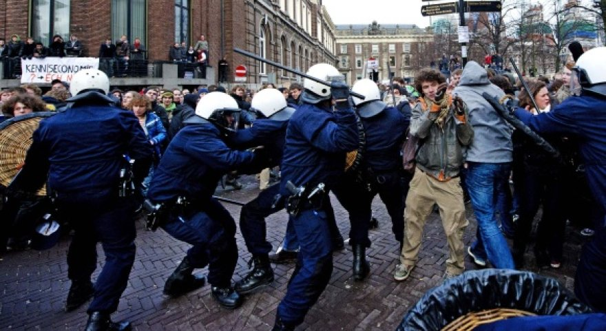 Studentų protestas Hagoje