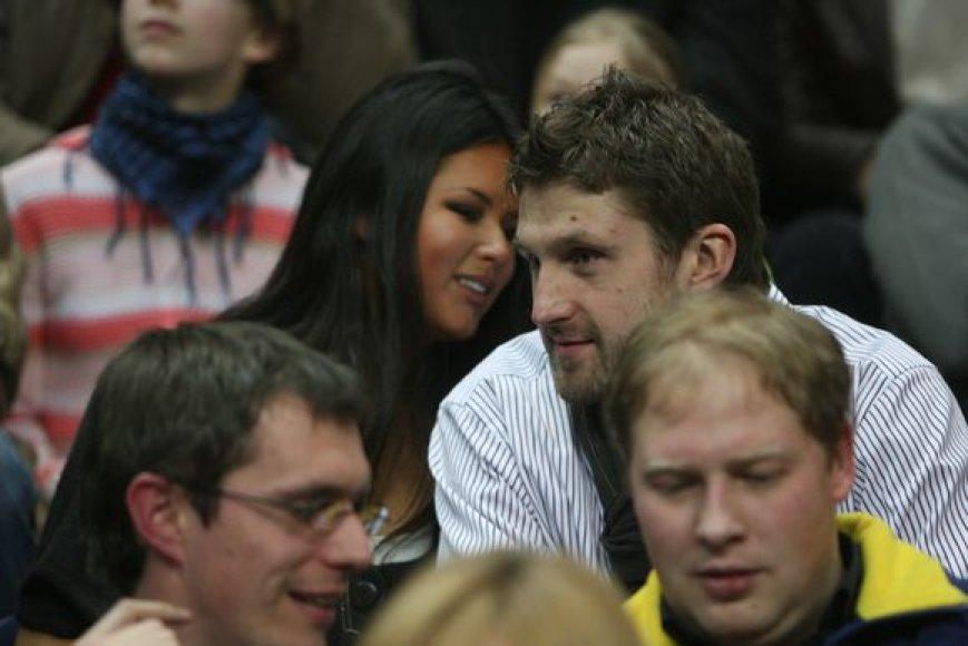 Arvydas Macijauskas ir jo draugė Viktorija Buder