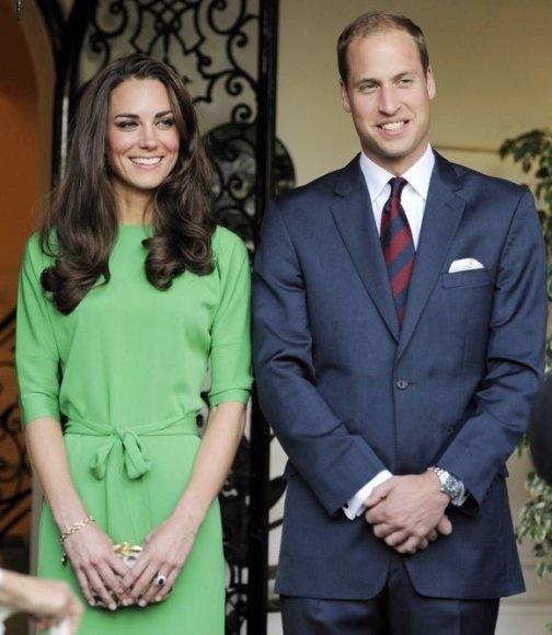 Princas Williamas ir Kembridžo hercogienė Catherine  priėmime