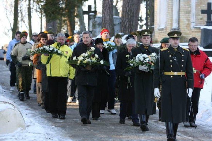 Šeštadienį pagerbtos sausio 13-osios aukos.