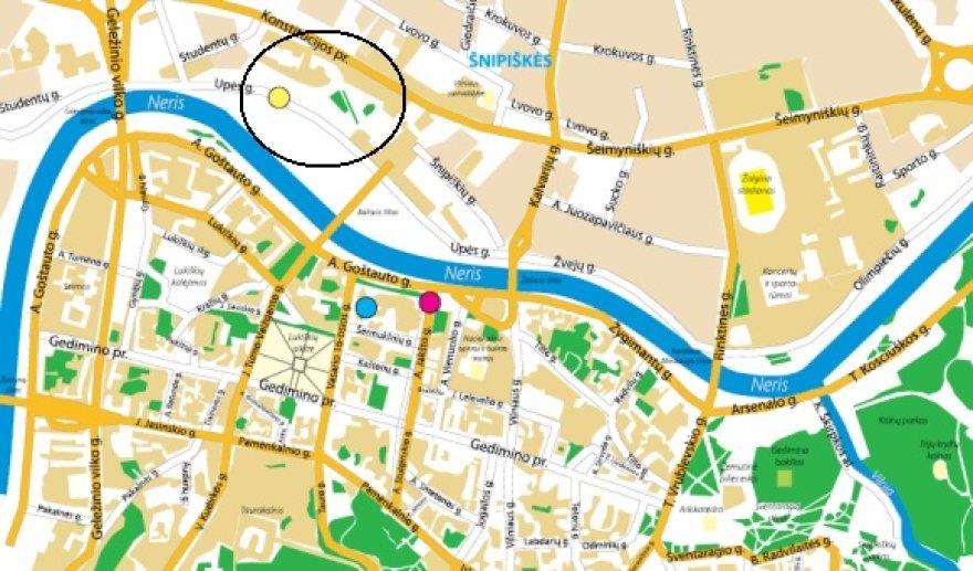 Baltic Pride eitynių žemėlapis